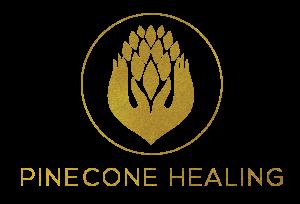 pine cone healing logo