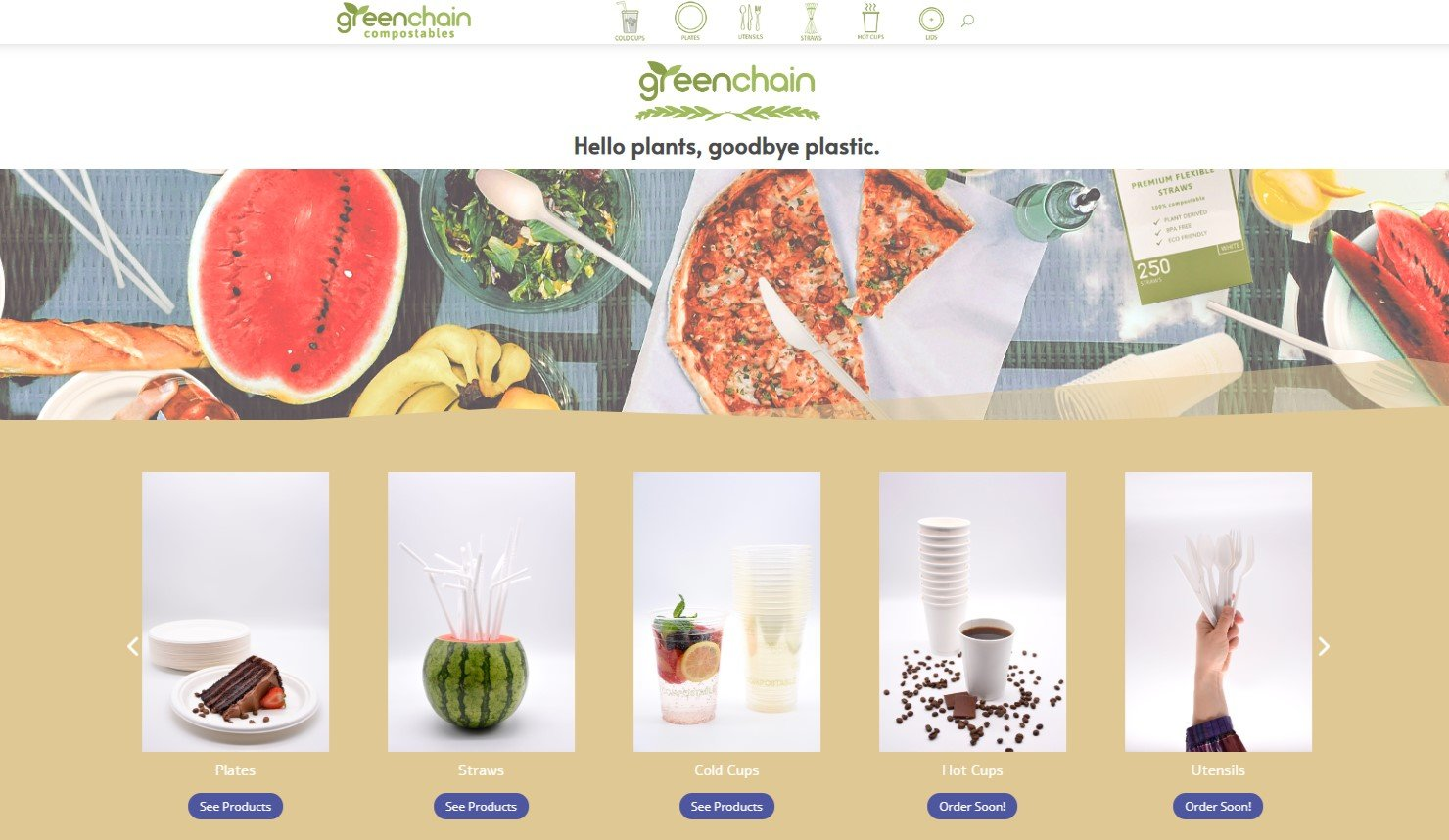 mygreenchain home page