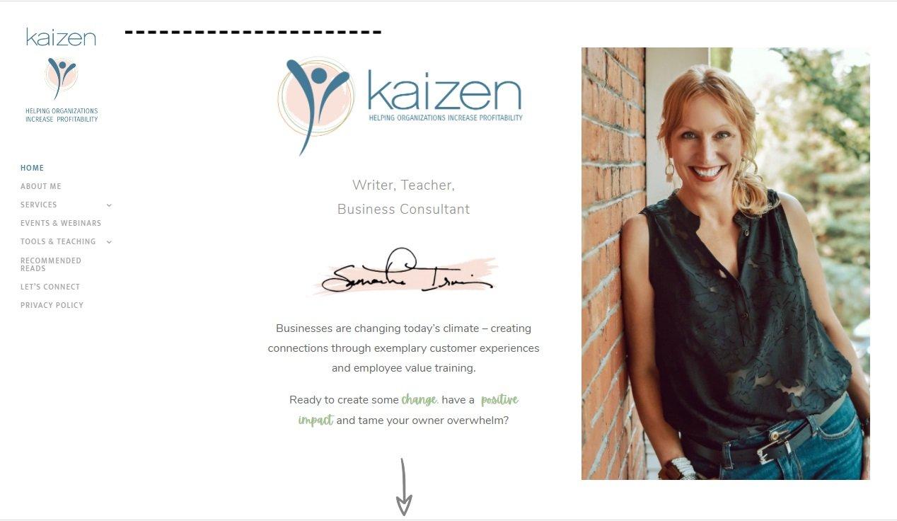 kaizen business coaching home page